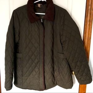 White Stag 1x Size 16 Quilted Fall Jacket